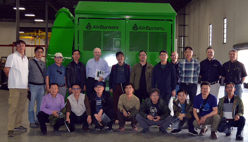 Visiting South Korean Forestry Experts with Air Burners Management Staff