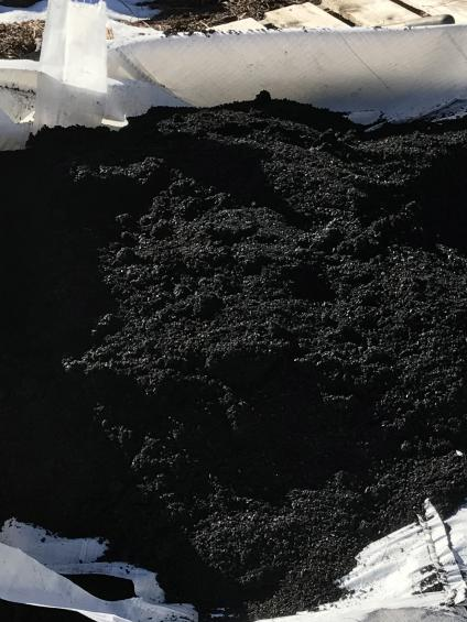 Biochar is a porous carbon substance that helps increase the water-holding capacity of soil. USDA Forest Service photo by Deborah Page-Dumroese.